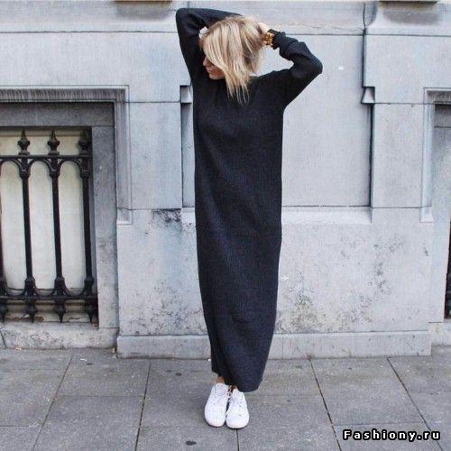 Привет, осень: утепляемся или еще раз о трикотажном платье