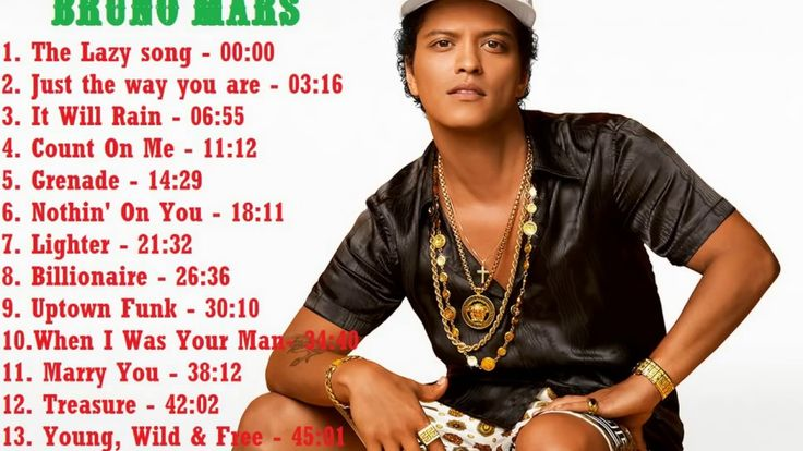 Top 15 Greatest Hits song of Bruno Mars