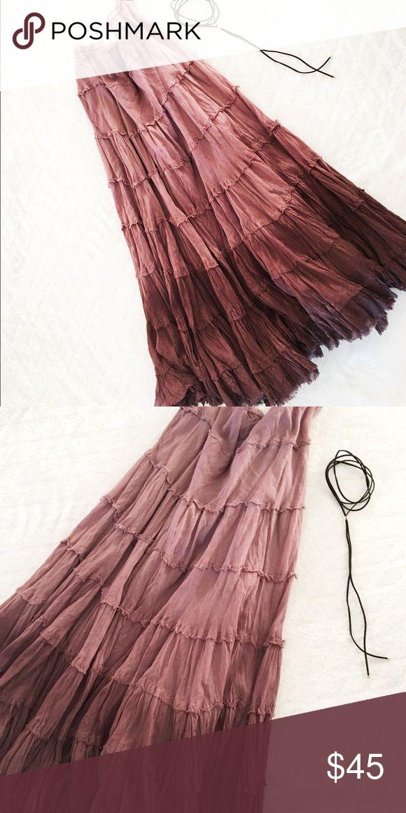 Maxi skirt Ombré brown maxi skirt. No flaws Planet Gold Skirts Maxi