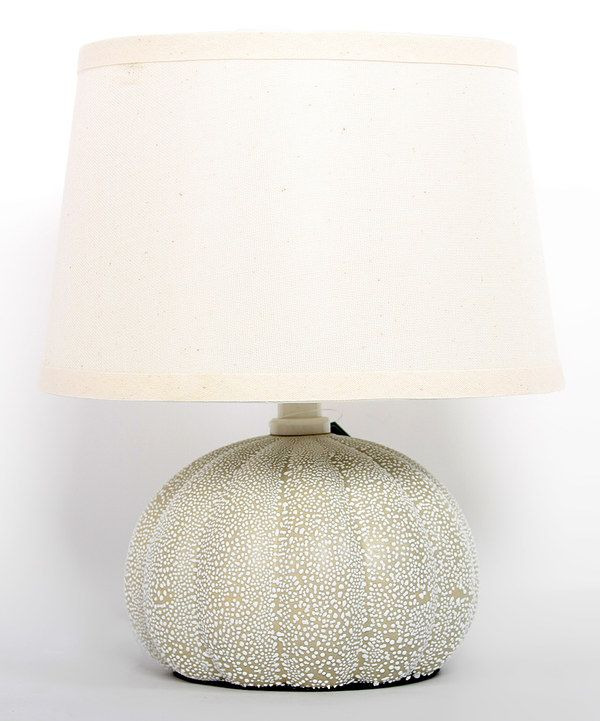Look at this Cream & Beige Urchin Table Lamp on #zulily today!