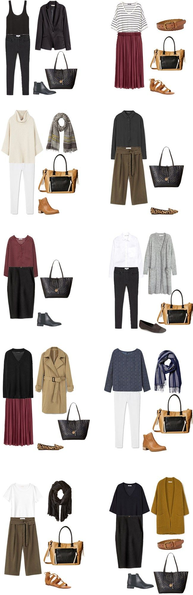 Teacher Capsule What to Wear Outfits Options 1-10 #capsule #capsulewardrobe…