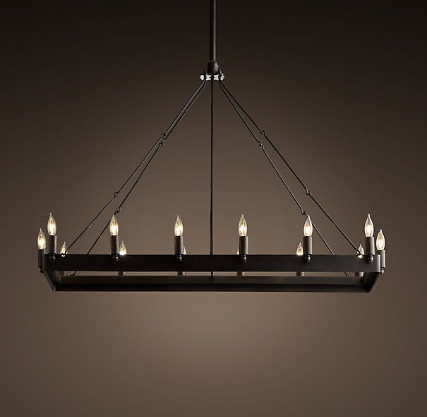 Rectangular Wrought Iron Chandelier Pictures Of Dining: 7 Best Rectangle Chandelier Images On Pinterest