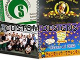 Aut Boo C - Custom Autograph Books Great last day of school, leavers gift!. A hardback, spiral bound, colourful School Customized Autograph Book with an acrylic dust cover and 50 white inner pages. Minimum Quantity 30.