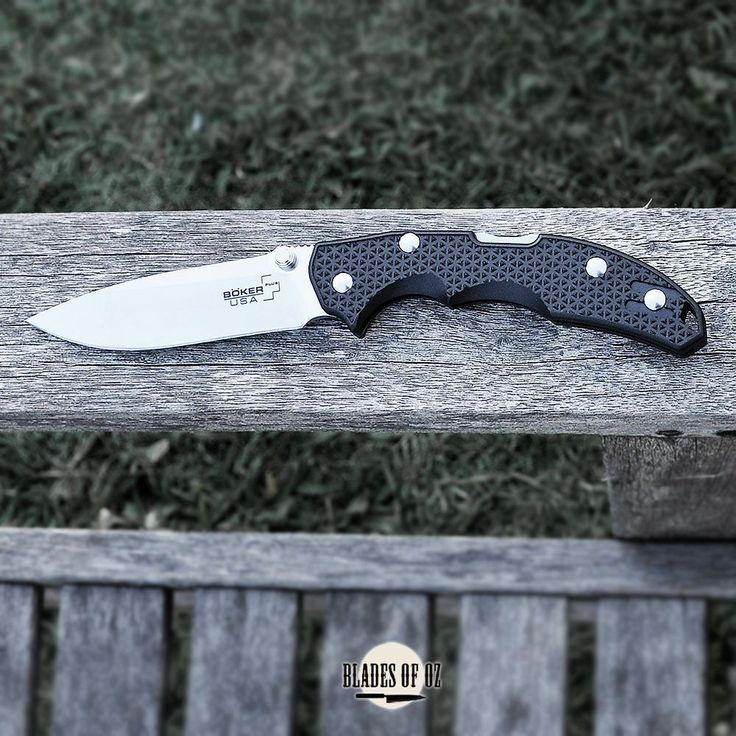 Boker Plus USA Patriot Black Handle 154CM Satin Blade Folder