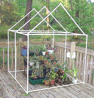 Simple PVC Pipe Greenhouse Frame, something for when i get the time and energy again. Been wanting to make one of these for years and now I am going to do it.
