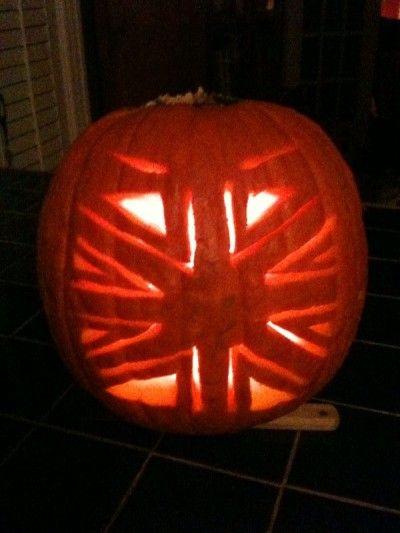 union jack pumpkin carving template | union jack-o-lantern