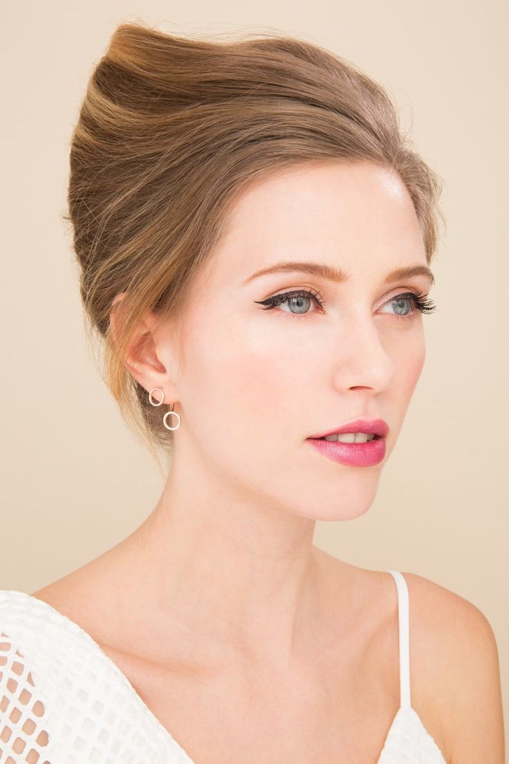 Boots x ATH simple holiday hairstyles: Blonde model with modern French twist hairstyle