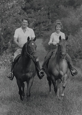 Ronald Reagan Riding