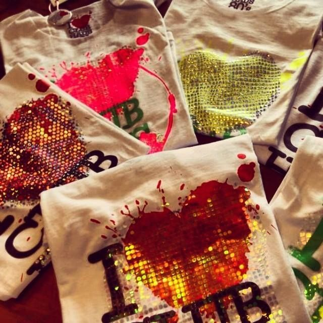 """handmade fluo t-shirt for """"ClubHaus 80's"""""""