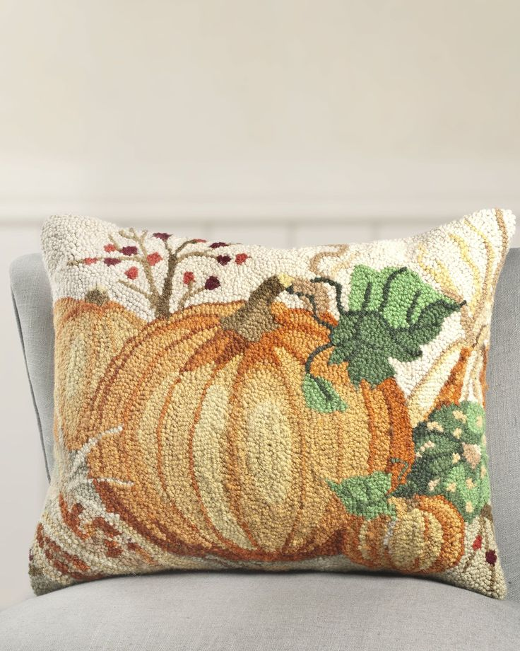 Decorative Pillows For Fall : 16 x 20 Inch Nature s Harvest Hooked Pillow Balsam Hill Fall -- Decor Pinterest Nature ...