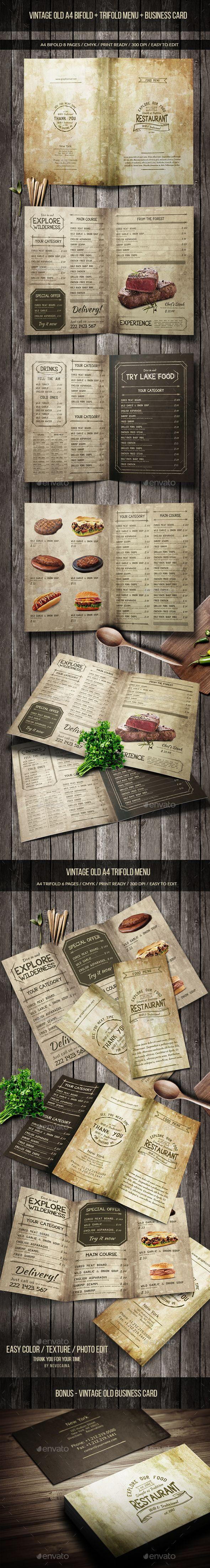 Vintage Old Menu Pack  — PSD Template #drinks menu #retro • Download ➝ https://graphicriver.net/item/vintage-old-menu-pack/18517760?ref=pxcr