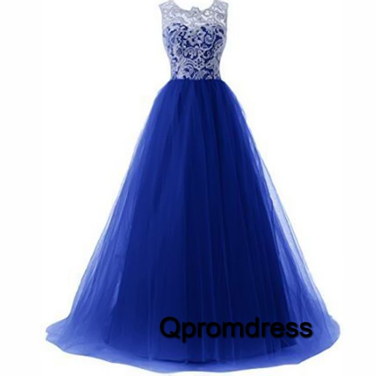Prom dresses long, homecoming dress, 2016 blue tulle poofy ...