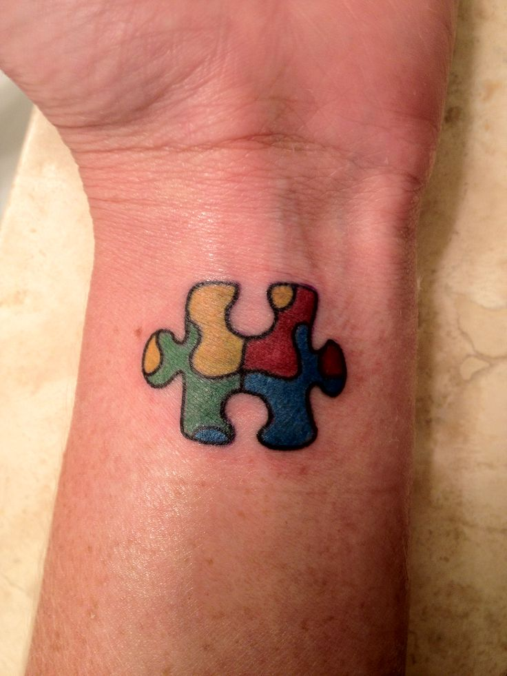 Autism awareness tattoo for my brother