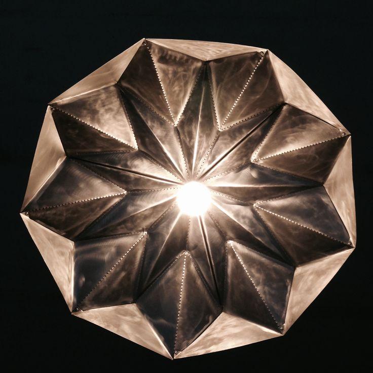 Brushed steel Lampshade, design by Romy Kühne