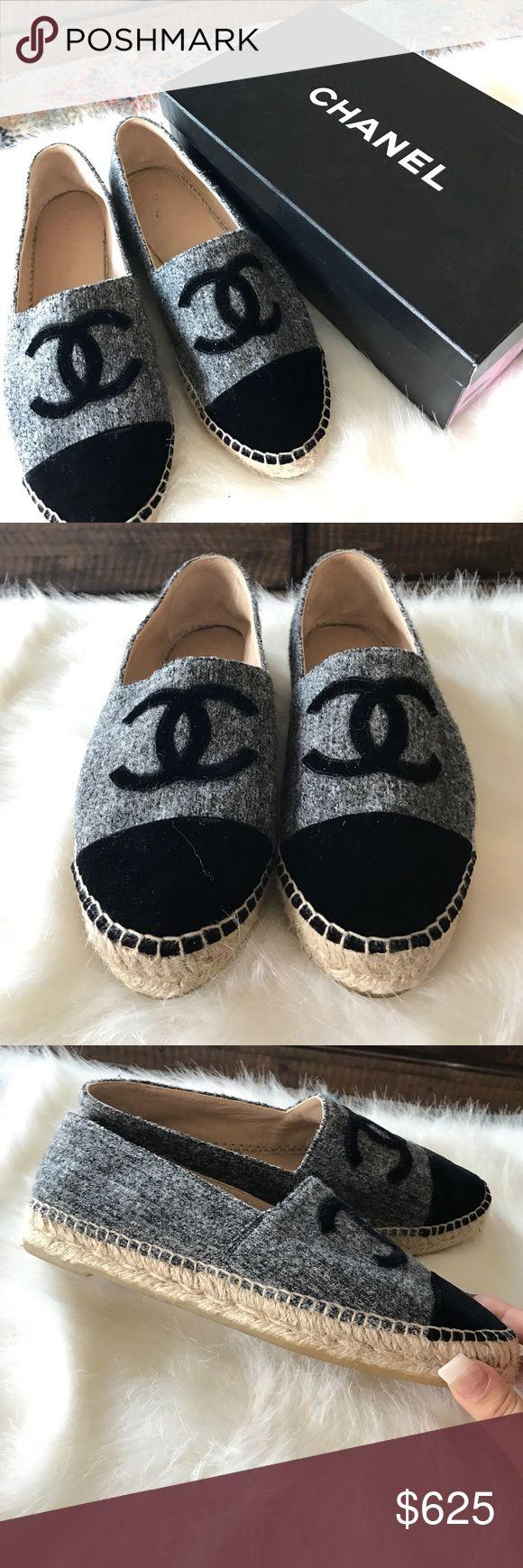 Chanel Espadrilles Beige / Black. Lamb skin, worn twice CHANEL Shoes Espadrilles