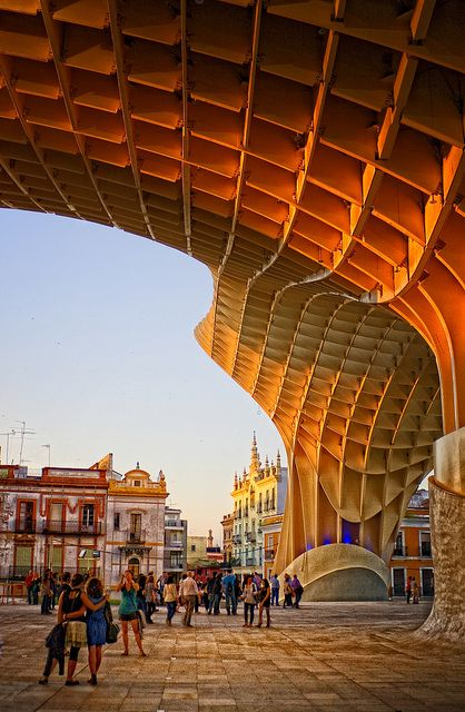 My morning run starts here! Metropol Parasol, right down the street from my apartment.