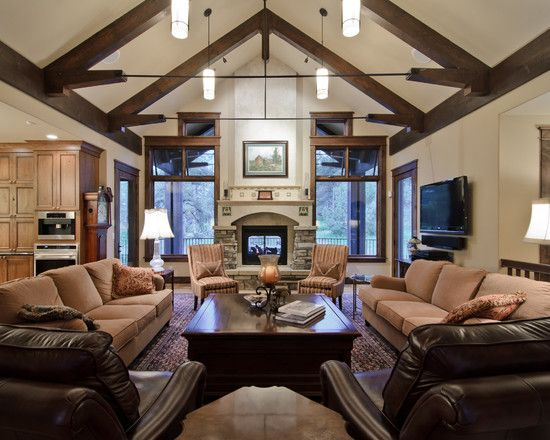Dark Ceiling Great Room Design, Pictures, Remodel, Decor and Ideas - page 15