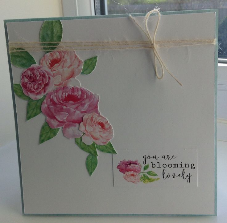Card made by Jo Street using craftwork Cards Heritage Rose collection.