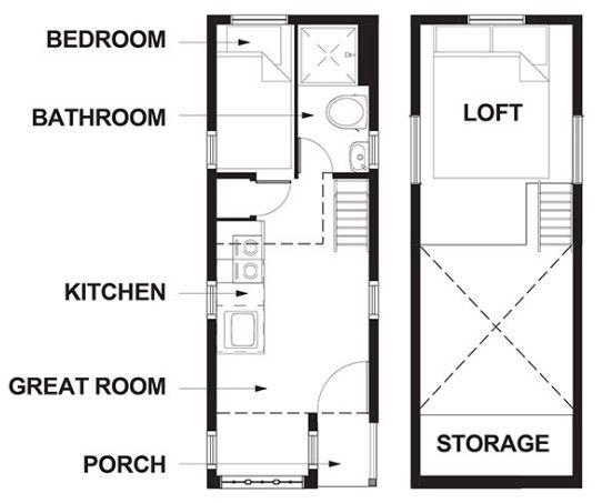 174 besten tiny house plans bilder auf pinterest kleine h user kleine hauspflanzen und. Black Bedroom Furniture Sets. Home Design Ideas