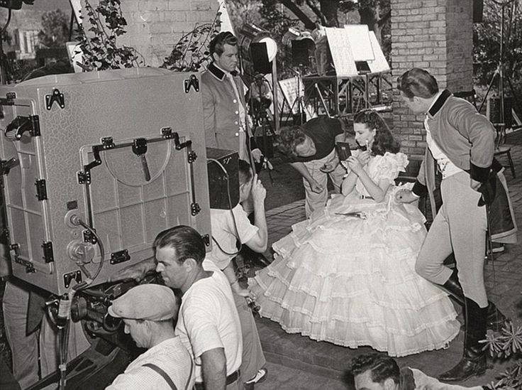 Behind the scenes photos of Gone With the Wind