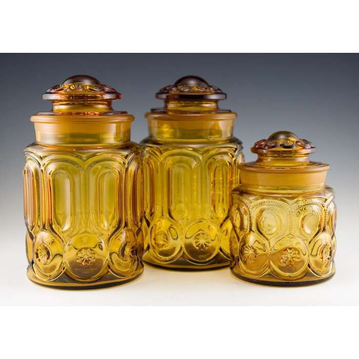 17 best images about vintage retro canister sets on for Glass bathroom canisters