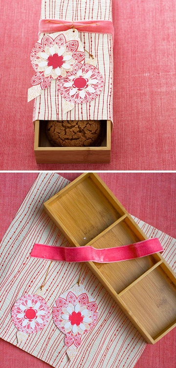 DIY - Cookie Box Gift using a Drawer Organizer. Nice gift the receiver can use again. Clever.