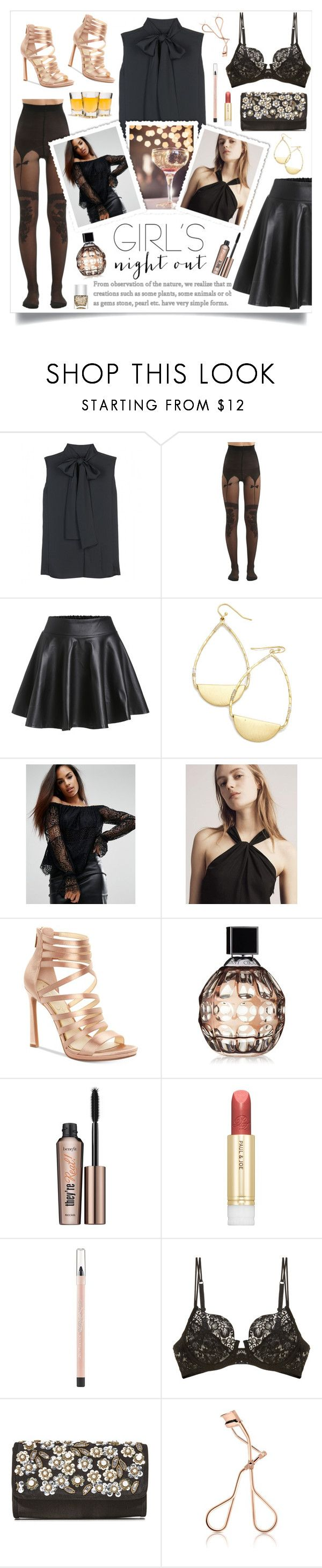 """""""Girls Night Out 🍸"""" by linmari ❤ liked on Polyvore featuring Victoria Beckham, Chantal Thomass, Kendall + Kylie, rag & bone, Jessica Simpson, Jimmy Choo, Benefit, Paul & Joe, Maybelline and La Perla"""
