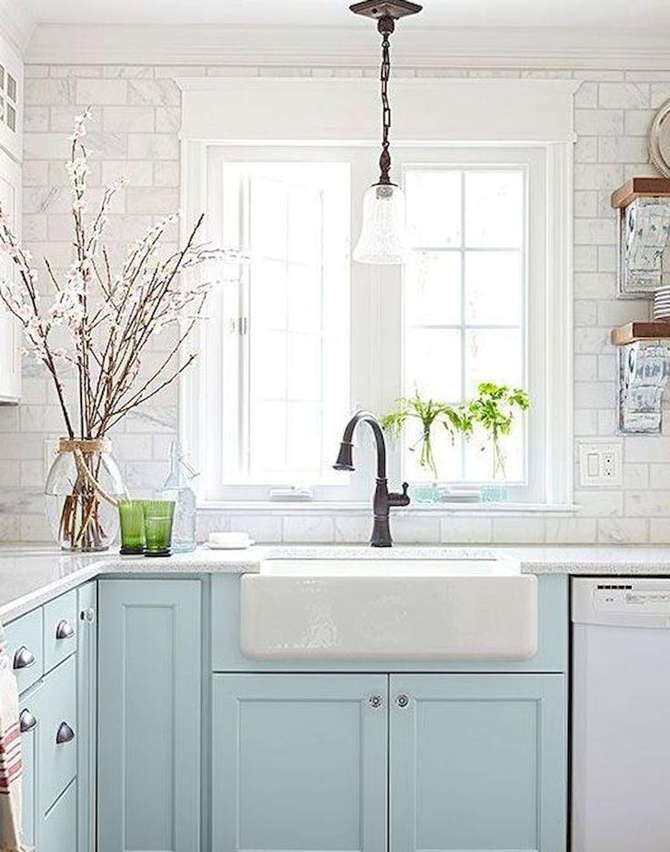 Rustic kitchen sink farmhouse style ideas (8)