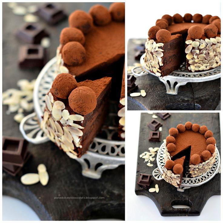 Torta di cioccolato con ganache