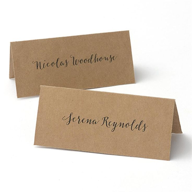 printable wedding place cards vintage%0A Kraft Printable Place Cards