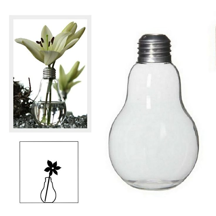 Bombilla para decoración. Bombillas Cristal Decoración. Diseño pensado para composición de flores
