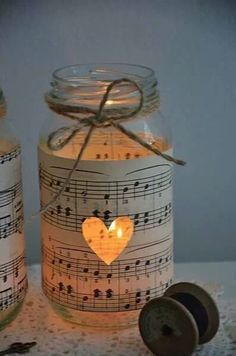 Super cute idea with a candle inside!