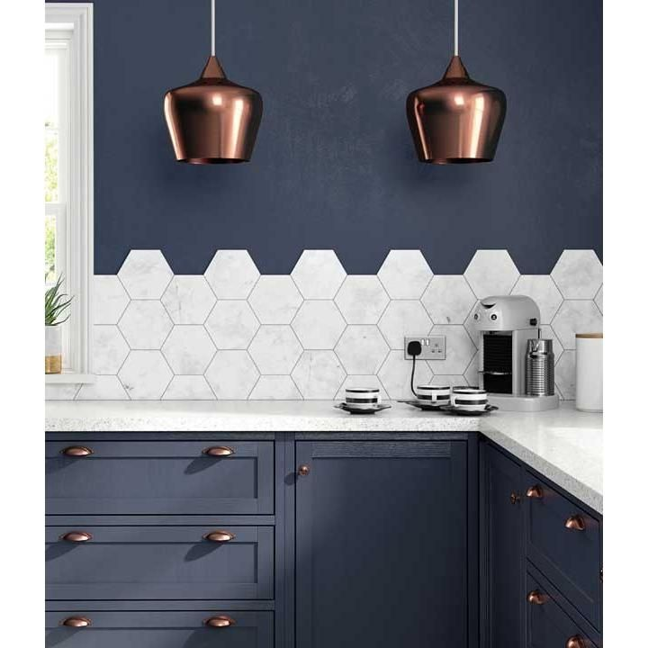 HD Laurel Hex Porcelain 175mm x 202mm Multi-Use Tile 3- BCT48466