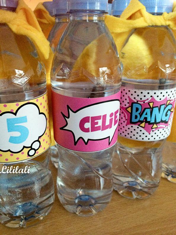 Anniversaire super h ros les bouteilles d 39 eau kit - Kit anniversaire super heros ...