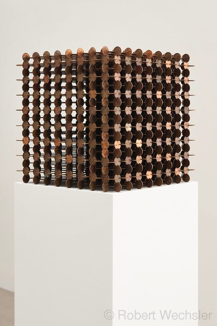 Meticulously Crafted Lattice Cubes Made of Pennies - My Modern Metropolis