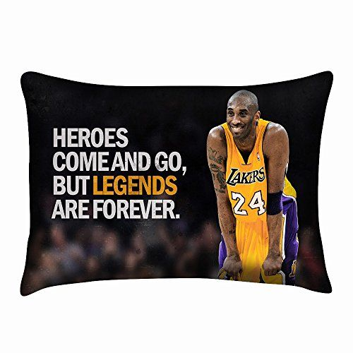Los Angeles Lakers Kobe Bryant Pillowcase Twin Sides Custom Cushion Cover Size 20x30 Inch
