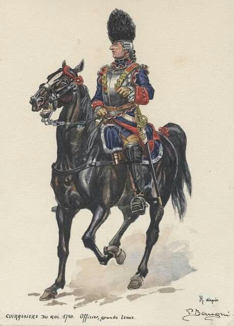 SOLDIERS- Benigni: SYW- France: Officier des Cuirassiers du roi - 1750, by Pierre Benigni.