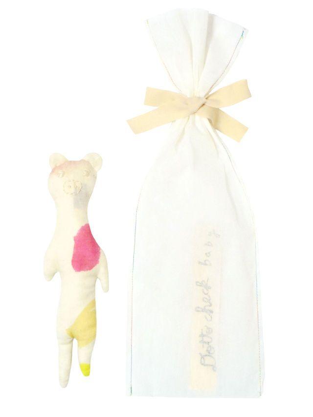 baby gift のびのびコブタ がらがらどうぶつ   Dotto check Petit(e)