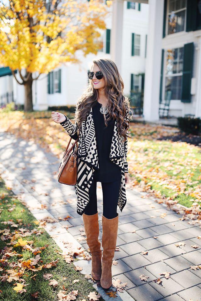 Last Call asymmetric draped cardigan  // similar black blouse  // black leggings   Last Call suede boots // similar mon...