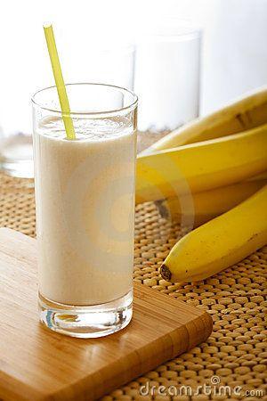Healthy Banana Shake, Banana + coconut milk.