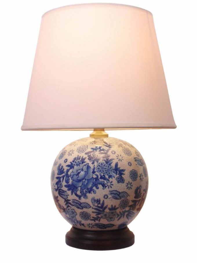 Round Blue And White Chinese Porcelain Lamp Amiska Lamp Porcelain Lamp Ball Lamps