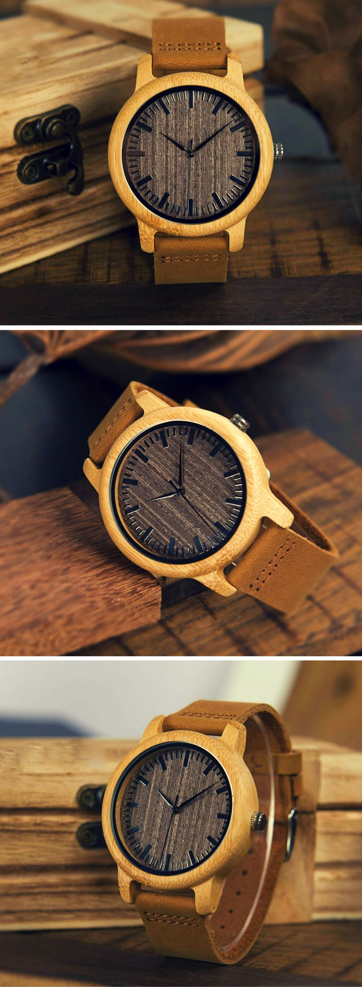 A beautiful men's watch made from 100% bamboo & leather | www.arborcouture.com | affordable watch, affordable watch for men, affordable watch collection, affordable watches, affordable watches for men, men's watch leather, men's watch leather brown, men's watch leather black, men's watch leather simple, men's watch leather life, men's watch leather classy, men's watch leather casual | #menswatches