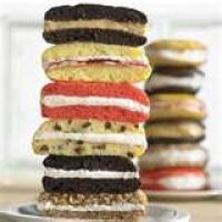 Homemade whoopie pies from cake mix. I hate to admit, better than homemade versions I've tried. Using yellow cake mix gives you the equivalent of a gourmet Twinkie...