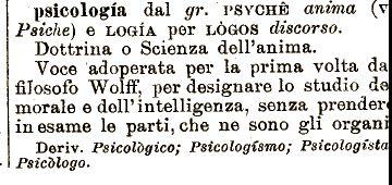 Etimologia : psicologia;
