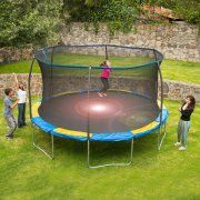 Bounce Pro 12' Trampoline with Flash Light Zone and Enclosure