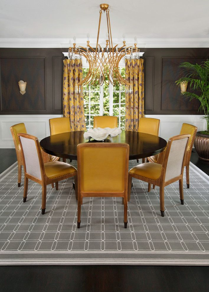 Modern Yellow And Gray Color Scheme Featuring A Geometric Stark Rug Designed By The Troop Group