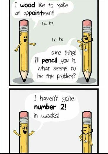 Pencil puns | Humor | Funny, Punny puns, Jokes
