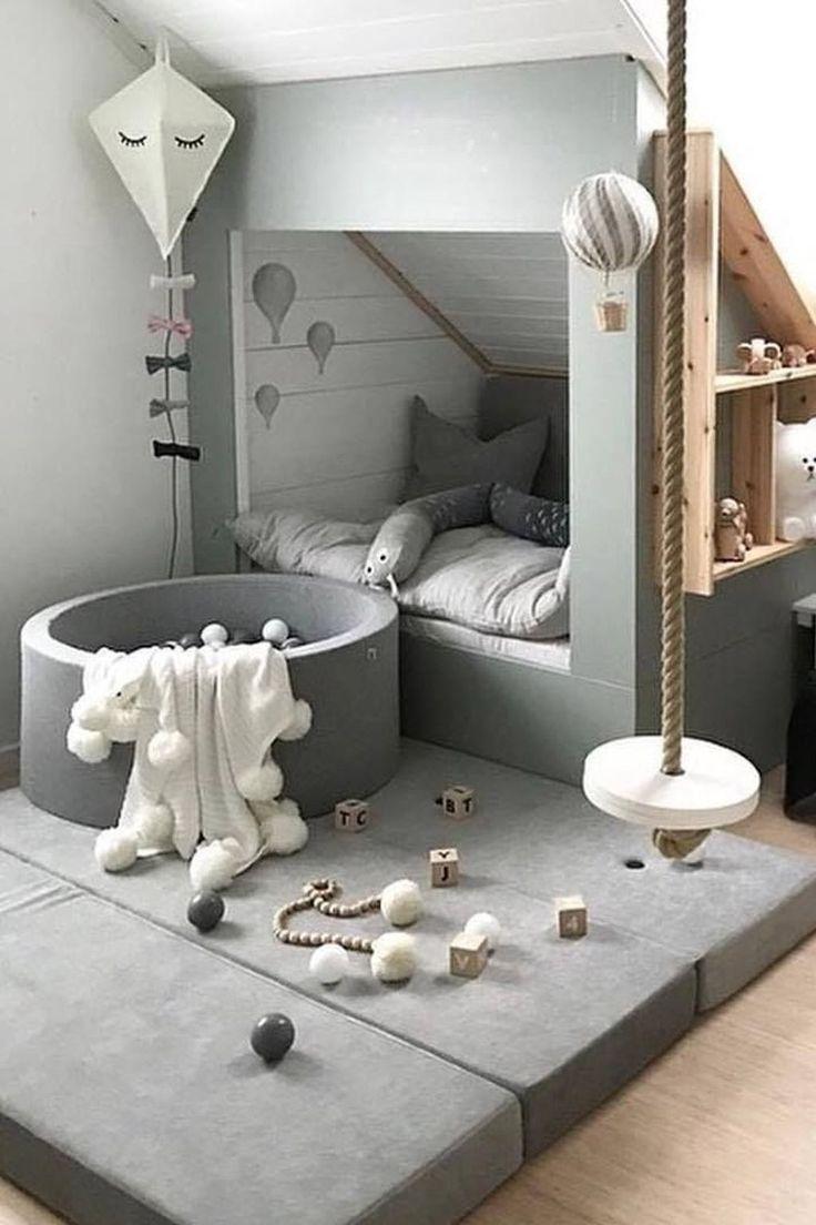Schöne 45 bezaubernde Kinderzimmer-Design-Ideen, die Kinder glücklich machen. Mehr bei tre …..