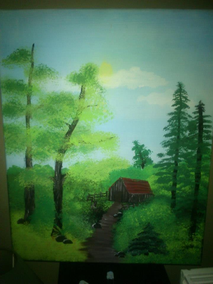 Πίνακας ζωγραφικής τοπίο! http://goo.gl/IsKgvK