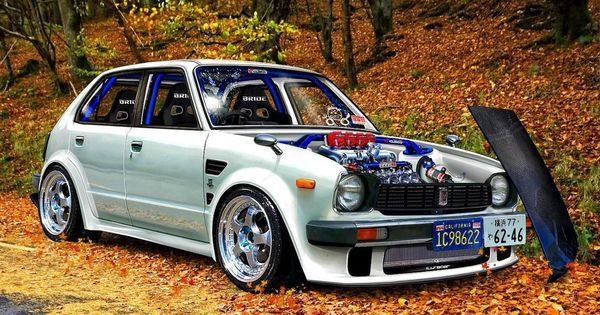 Tuned Honda Civic (First Generation) - old but gold! Everybody should start off with a car like this.   See more about Honda Civic, Cars and Sports cars.